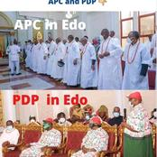 Edo 2020: Residents Compare PDP's Visit To The Oba's Palace And APC's Visit, See Obaseki's Blunder