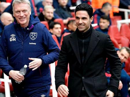 Moyes Versus Arteta: Would Mikel Arteta Be Able To Move Westham Into The Top 4 Positions?