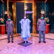 See what Buhari told the new Service Chiefs when they met him yesterday in Aso Rock