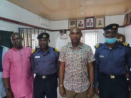 Familiarization Visit: Nigerian Navy School Visits Oruk Anam Local Government Chairman.