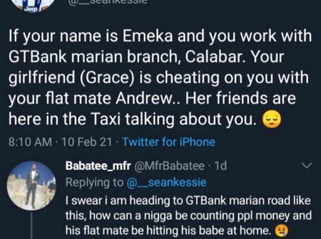 Banker at GTBank buys Shawarma for his cheating girlfriend and broke up the next morning