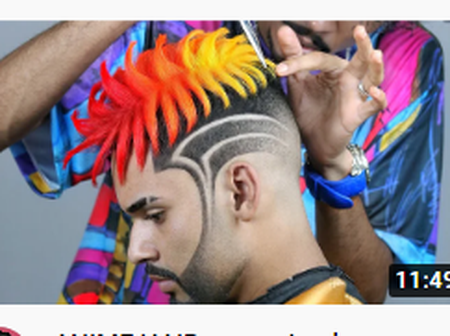 Colourful hairstyles for men