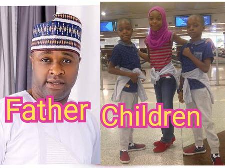 Lovely Photos Of Famous Yoruba Actor, Femi Adebayo And His Adorable Children