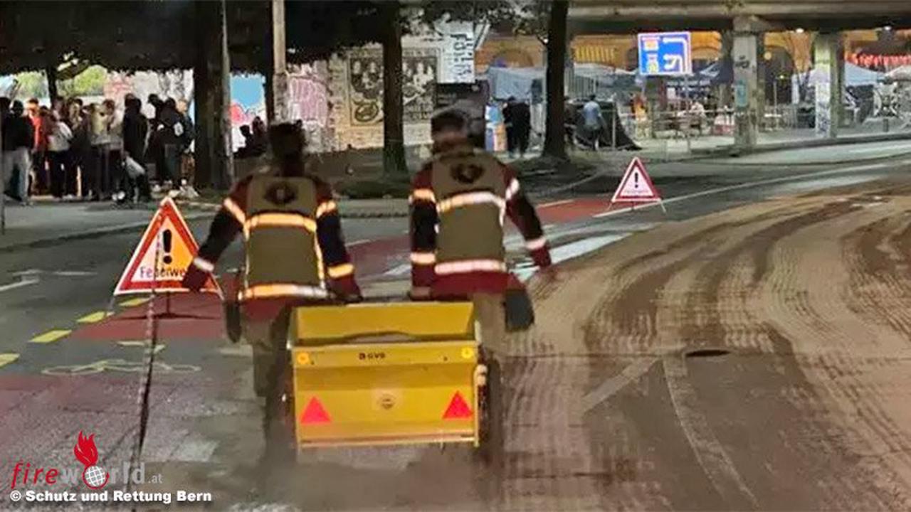 """Schweiz: Erstarrungsbeschleuniger für Spritzbeton """"ziert"""" Straße in Bern"""