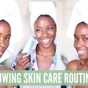 No dark spots no pimples glowing skin tips