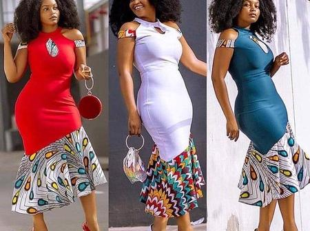 Beautiful Plain Pattern And African Print Combo Styles That Ladies Can Rock To Any Event