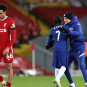 Photos: See how Chelsea players celebrated their victory against Liverpool this night.