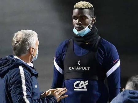 France Manager Didier Deschamp Sent Manchester United Paul Pogba Injury Message.