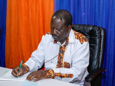 Raila Odinga Consoles With Another Fallen Politician's Family