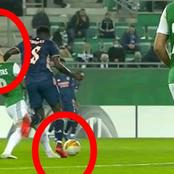How's That Not A Red Card? See What Arsenal's Partey Did That Made Him To Receive Just A Yellow Card