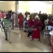 Pastor Seen Holding A Gun Inside The Church While His Members Held Cutlasses & Brooms (Video)