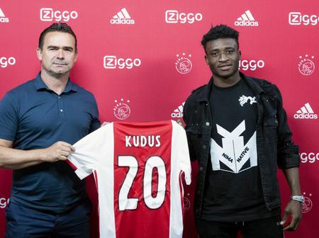 The Ghanaian player who joined the giant Ajax