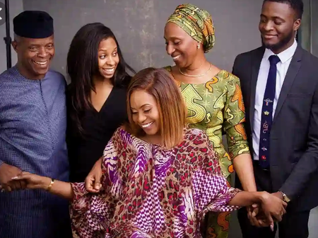 Osinbanjo Becomes a Grandfather as his Daughter Delivers Baby Boy