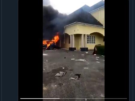 3 Nigerian Senators Count Losses As Irate Mob Loot, Burn Down Houses [PHOTO/VIDEO]