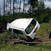 5 Escape Death After Their Vehicle Veered Off The Road Ramming On A Fence