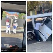 South African taxi operates without passenger door