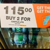 The sale of alcohol In checkers that got people speechless!