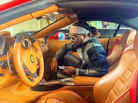 Paul Psquare (Rudeboy) Shows Off His New Ferrari Car on Instagram (Photo)