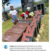 Late Gospel singer's daughter visit his grave and people reacts