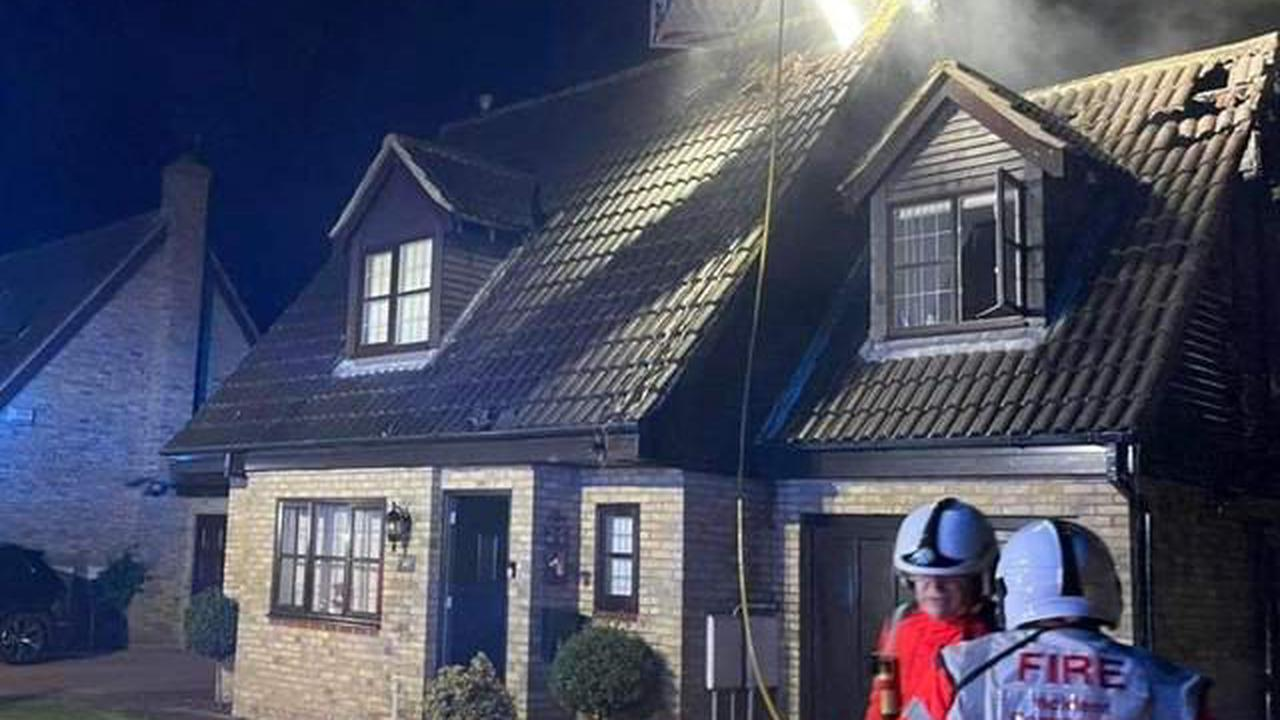 Firefighters tackle house blaze following reported 'explosion'