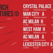 Schedule Reminder: Check out Manchester United next 6 matches.