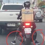 La photo d'un homme amputé des jambes à moto crée le buzz sur la toile