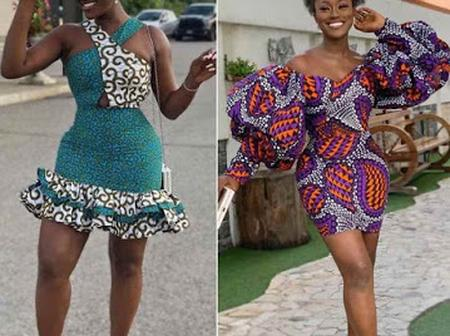25+ Classy And Trendy Ankara Short Gown Styles For Beautiful Ladies.