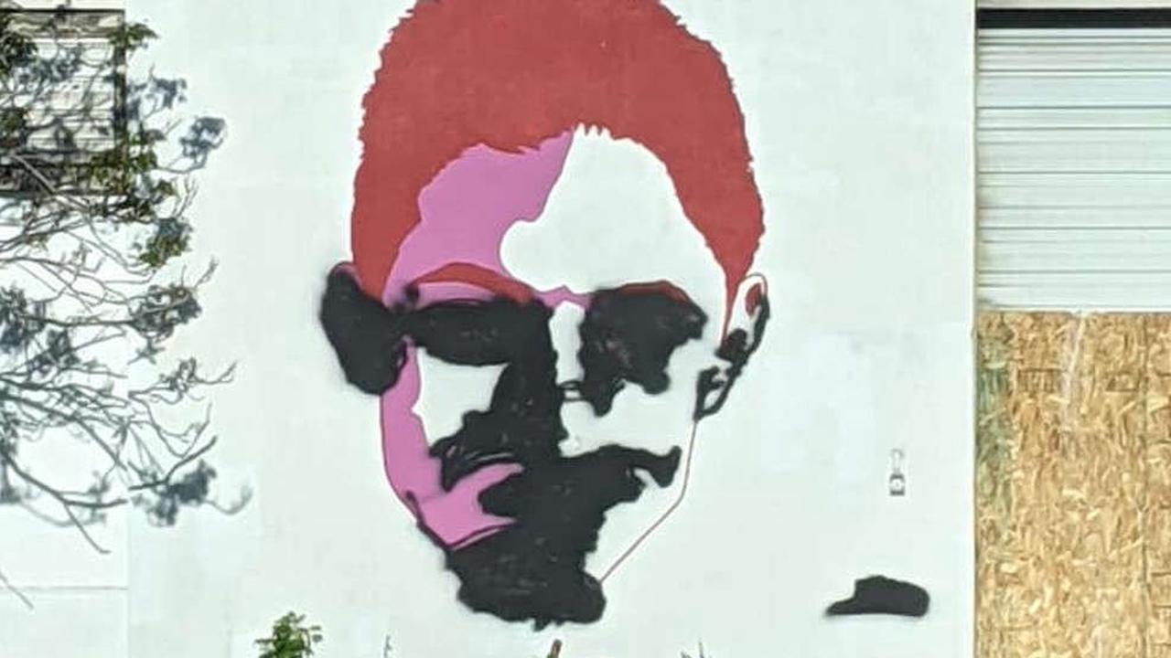 Street portrait of man killed by police vandalized in Salt Lake City