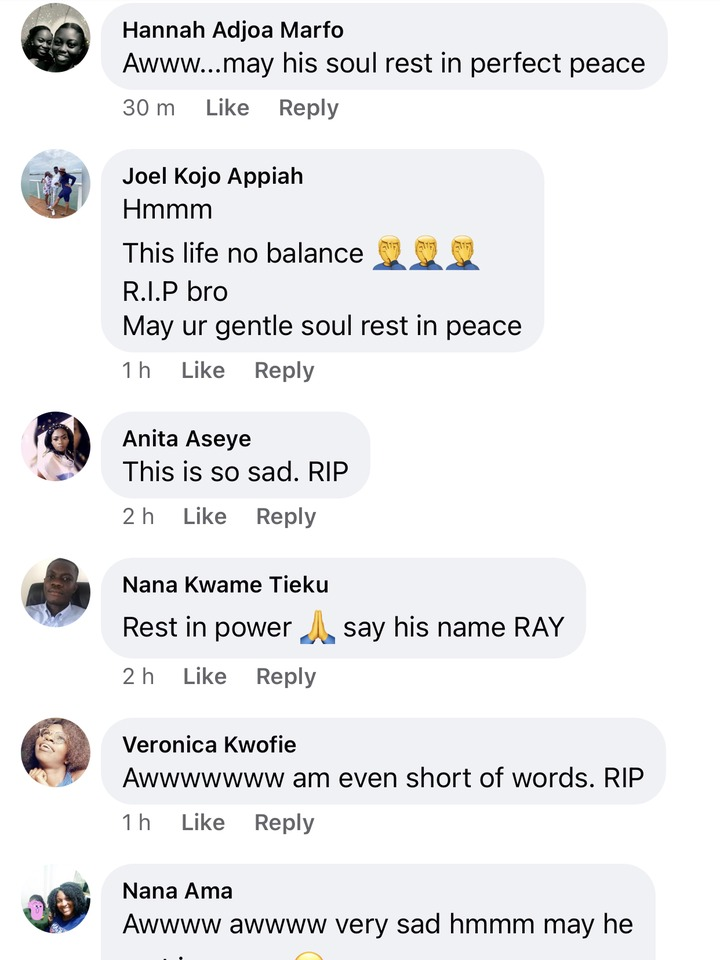 f3d3cd9641367dd4cedccf9582787041?quality=uhq&resize=720 - Life is too short: Ghanaians reacts sadly to the death of Ray Styles - See comments