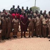 Dr. Minta Nyarko Donates Items to Elmina Fire Service Station