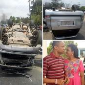 PHOTOS: Akwa Ibom Senior Pastor, Ntia Escaped Death In A Ghastly Motor Accident