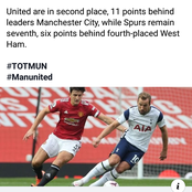 After Man United Beat Tottenham, Check What A Newspaper Posted On Facebook That Is Causing Reactions