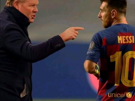 Barcelona Manager Ronald Koeman Gives Update On Lionel Messi's Future