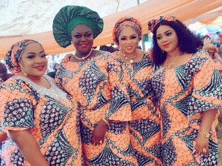 Celebrities Attend An Actress' Father's Burial In Ogun State, Checkout Their Aso-ebi And Make up
