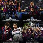 This 2015 Barcelona Side Was Something Else. See The Teams They Beat On Their Way To Winning UCL.