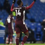 Nigerian Foward, Kelechi Iheanacho on Target as Leicester snatch late win at Brighton.