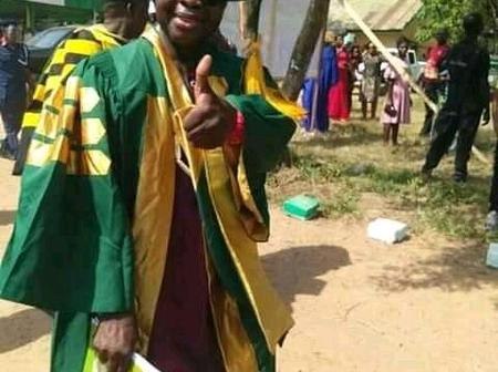 You Remember The King That Dresses Like a Rapper? He is Seen on Matric Gown