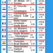 Today's Correctly Fixed Soccer Matches with Under And Over 2.5 Odds To Win You Massively.