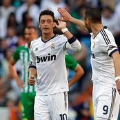 After Benzema Scored, See What Mesut Ozil Said About Him That Sparked Reactions Online