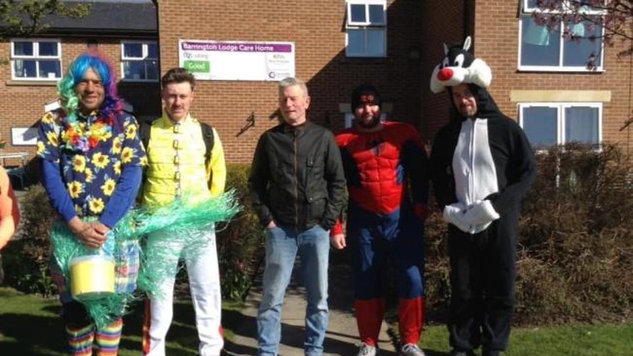 Walkers raise money for an entertainer to visit care homes to bring cheer