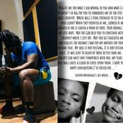 Big Zulu gets touched by heartbreaking suicidal letter of Lufuno,