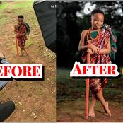 CREATIVITY: See What This Photographer Did With The Pictures Of These Kids That Sparked Reactions