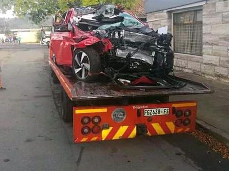 The car that took Sinethemba Jantjie's life.