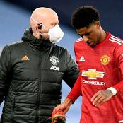 Checkout The Matches Rashford Will Miss Due To Injury, As Man Utd Record Another Injury Blow