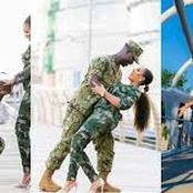 So Interesting: See How Ghanaian Army Proposed To Their Fiancee Celebrate Their Wedding.