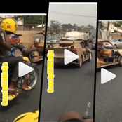 Reactions as man constructs a functioning sport car with Cardboard paper and Condemned iron(Video)