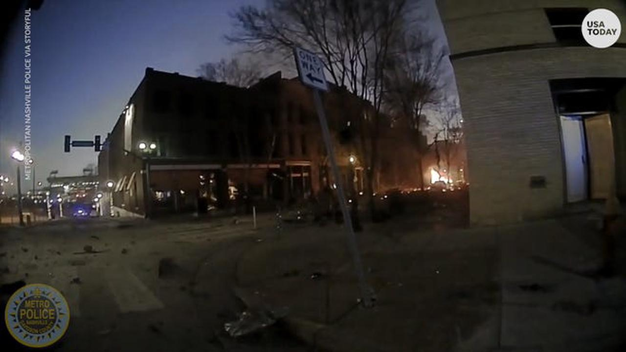 Nashville police bodycam footage shows raw moments of chaos before and after explosion