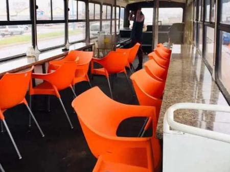 Top-Notch Creativity As A Young Man Converts Luxurious Bus to A Mobile Restaurant.