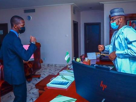 The EFCC Pay A Visit To Communication Minister, Isah Ali Pantami At His Office In Abuja [PHOTOS]