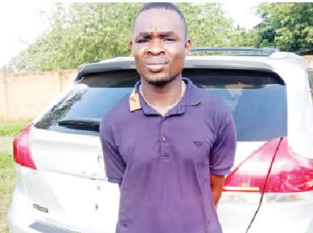 Reaction As Lagos Car Wash Worker Was Arrested With Customer Car At Benin Border.